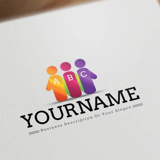 Initials-people-group-logo-design-template