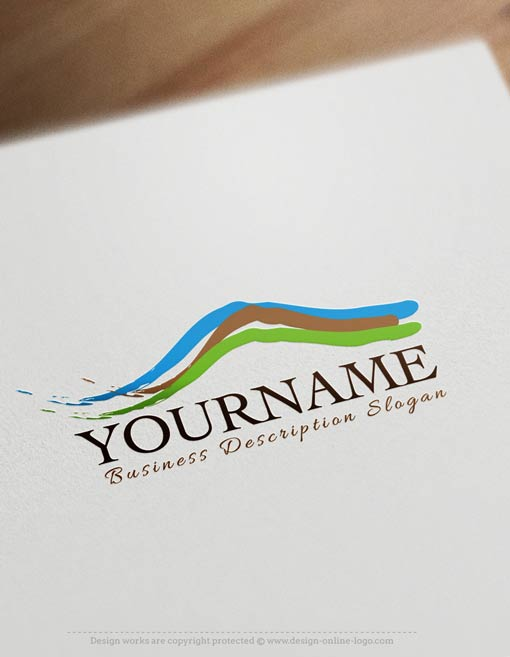 Mountain-landscape-logo-template