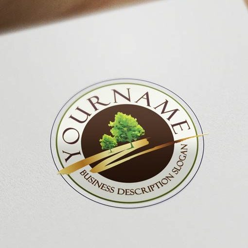 stamp-tree-logo-template