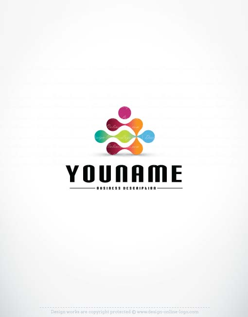 3317-human-Dots-logo-design-template