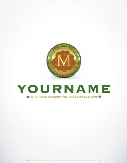 exclusive logo template gold medal logo free business card