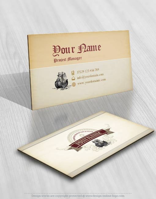 3326-Pirate-ship-logo-Image-free-card-design