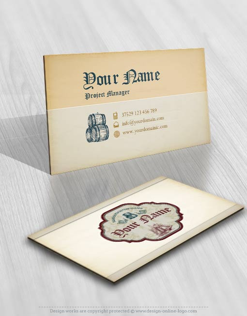 3327-Whiskey-Barrel-logo-Image-free-card-design