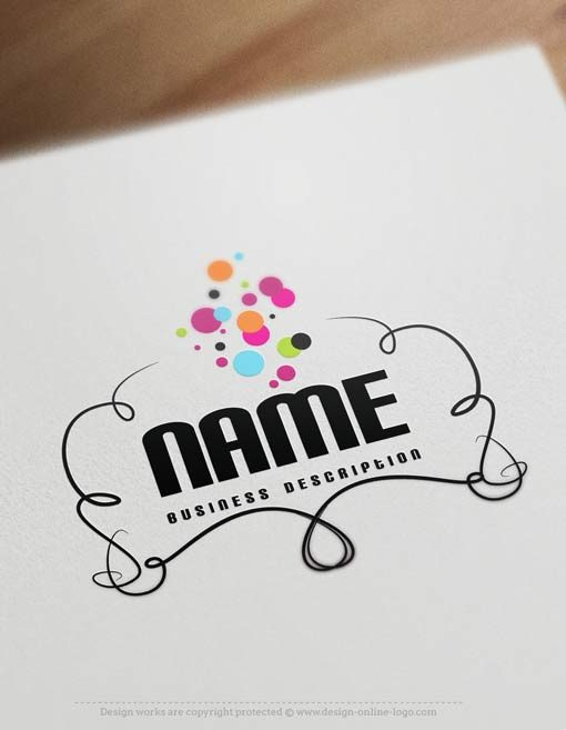 bubbles-logo-design-template