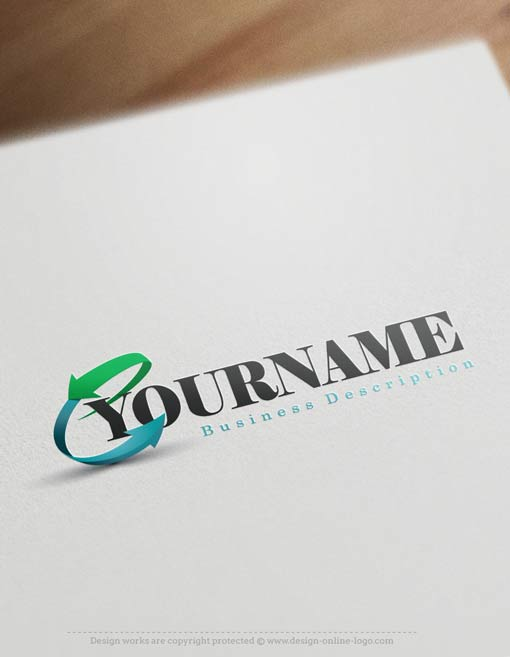arrow finance logo free business card