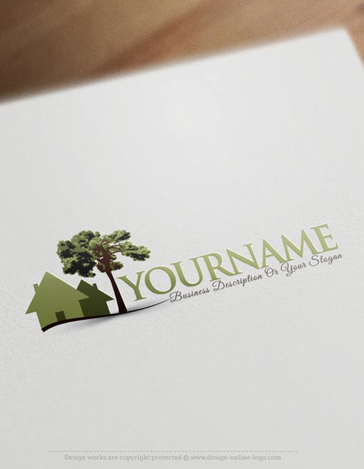 tree-house-logo-design-template