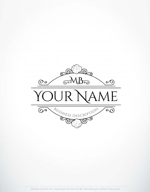 Vintage Rose Logo Free Business Card