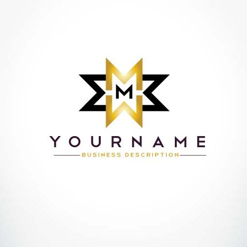 Abstract Letter M Logo Design. Linear Creative Monochrome ...