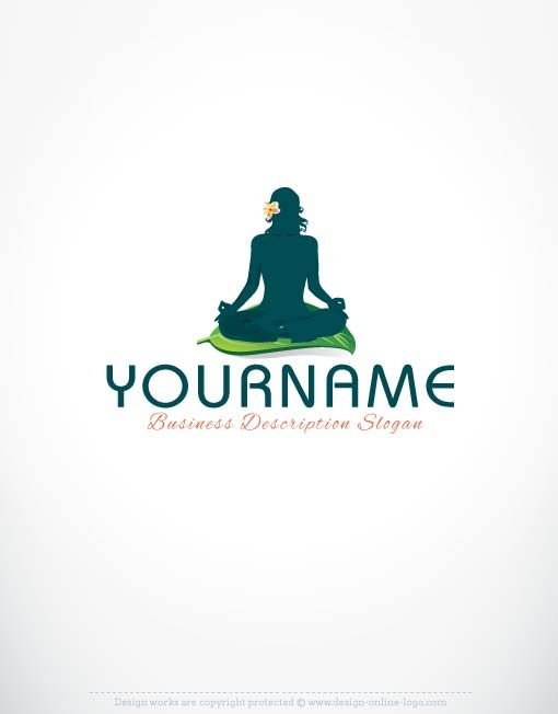 Exclusive Logo Design Yoga Logo Free Business Card