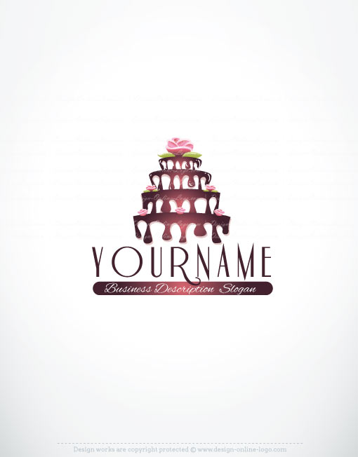 Cake Company Logo Design : Exclusive Design: Cake Logo + FREE Business Card