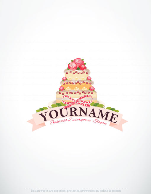 Exclusive Design: Cake Logos + FREE Business Card