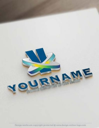 ready-made-3D-V-logo-design