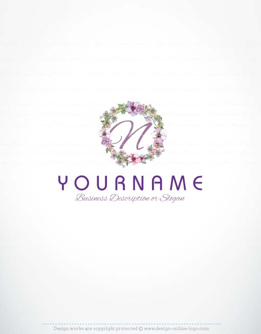 3390-ready-made-Alphabet-flowers-logo-template