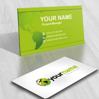 3420-Green-globe-logo-design-free-business-card