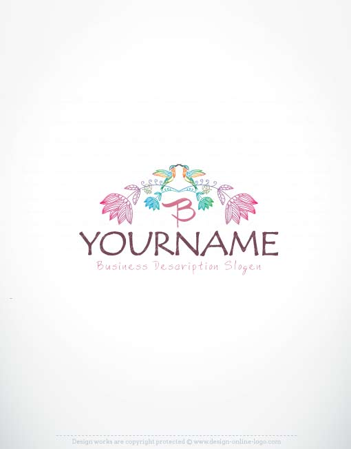 Exclusive logos store flower frame logo for Design online shop