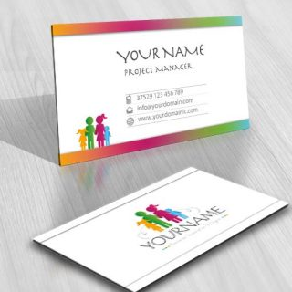 Buy ready made exclusive people logo 3427 family logo design free business card reheart Image collections