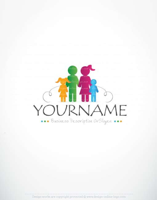 Exclusive Logos Store Family Logo Design