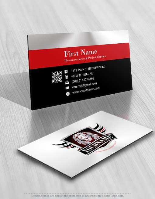 3431-Lion-logo-design-free-business-card