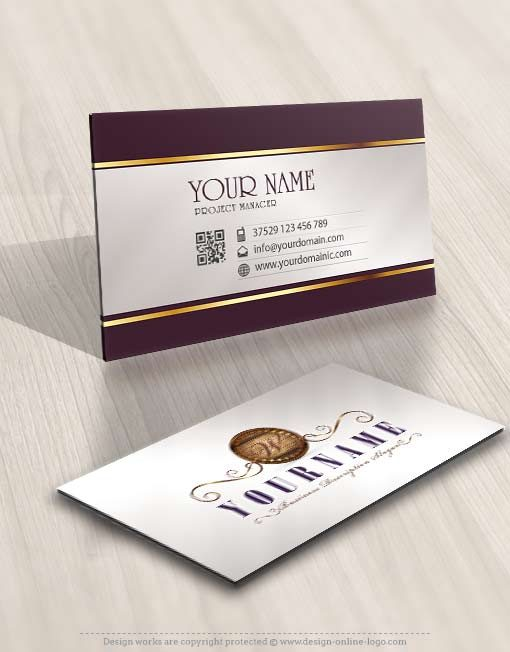 3437-Wood-logo-design-free-business-card