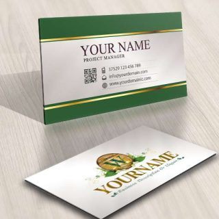 3438-Green-Wood-logo-design-free-business-card