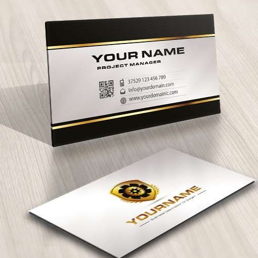3445-Industry-logo-design-free-business-card