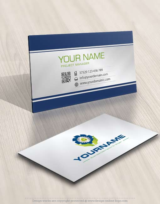 3446-green-industrial-logo-design-free-business-card