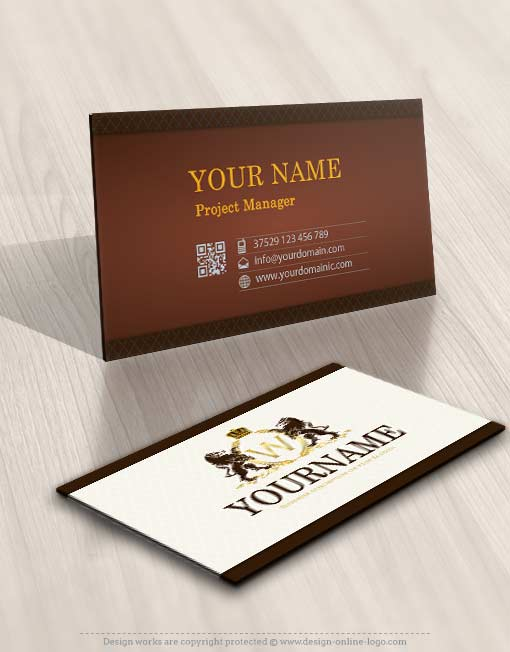 3451-Lions-logo-Free-business-card-design