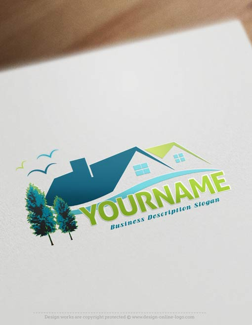 online-real-estate-logo-design