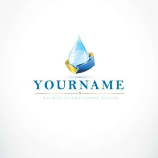 Water drop Logo 3504-make-a-logo-water-drop-logo-design