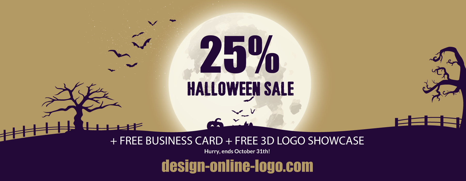 Halloween sale logo design