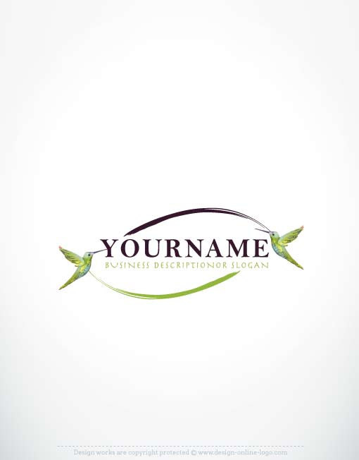 Exclusive Hummingbird Logo Design + FREE Business Cards