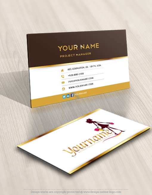 Ready made Woman Shopping Logo Design for sale Online