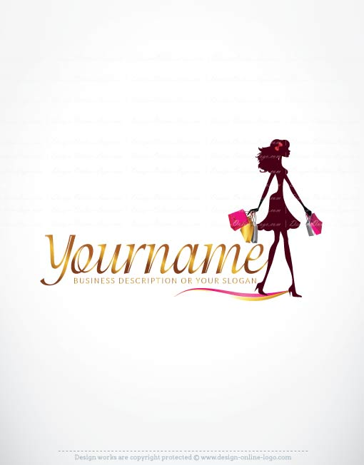 woman shopping logo design free business cards