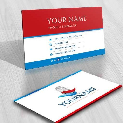 Ready made Exclusive USA Real Estate Logo designs free business cards