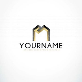 Ready made Exclusive online M Letter Logo design + FREE Business Cards design