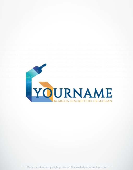 Ready made Exclusive Online Paint Logo design